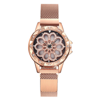 2019 magnet watch minimalist flower mesh wrist relogio ladies price women watch