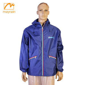 OEM custom new fashion mens pvc rain jacket outdoor jackets