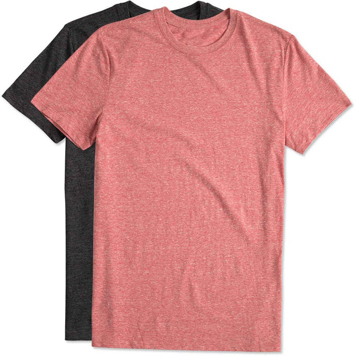 custom screen print plain no brand soft men basic round neck heather color triblend t <strong>shirt</strong>