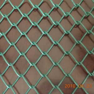 Green Color PVC coated chain link fence for basketball field fence