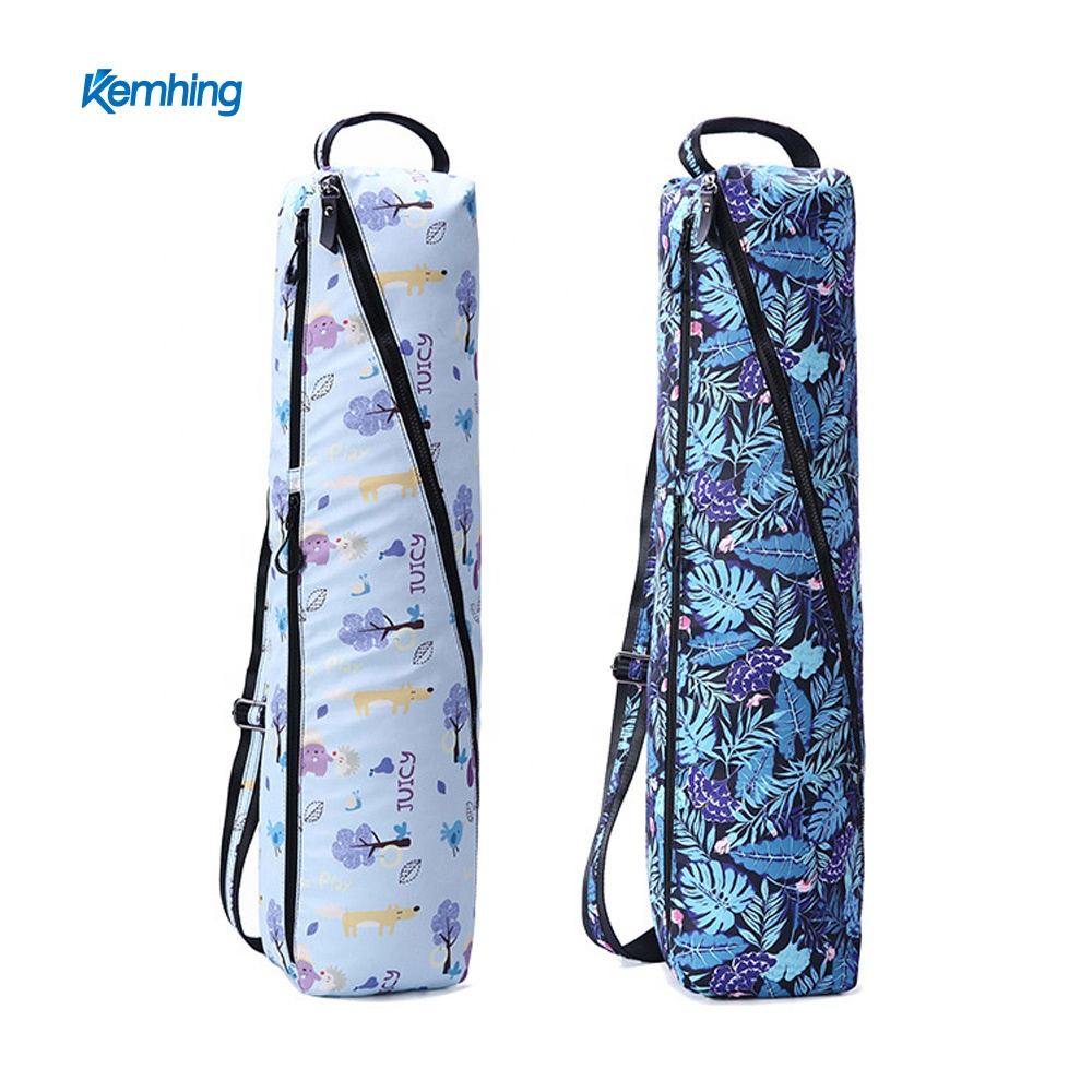 OEM logo label sublimation printing water proof yoga mat tote bag