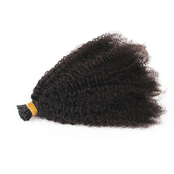 1g/ strand 100% human afro curly keratin I tip 4c hair extension