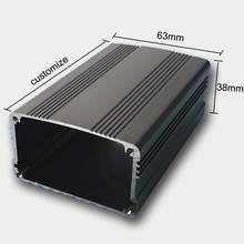 Electronic Shell Prototype Extruded Aluminum Electronic Enclosure/ Aluminum Extrusion Enclosure PCB Housing Box 63*38mm