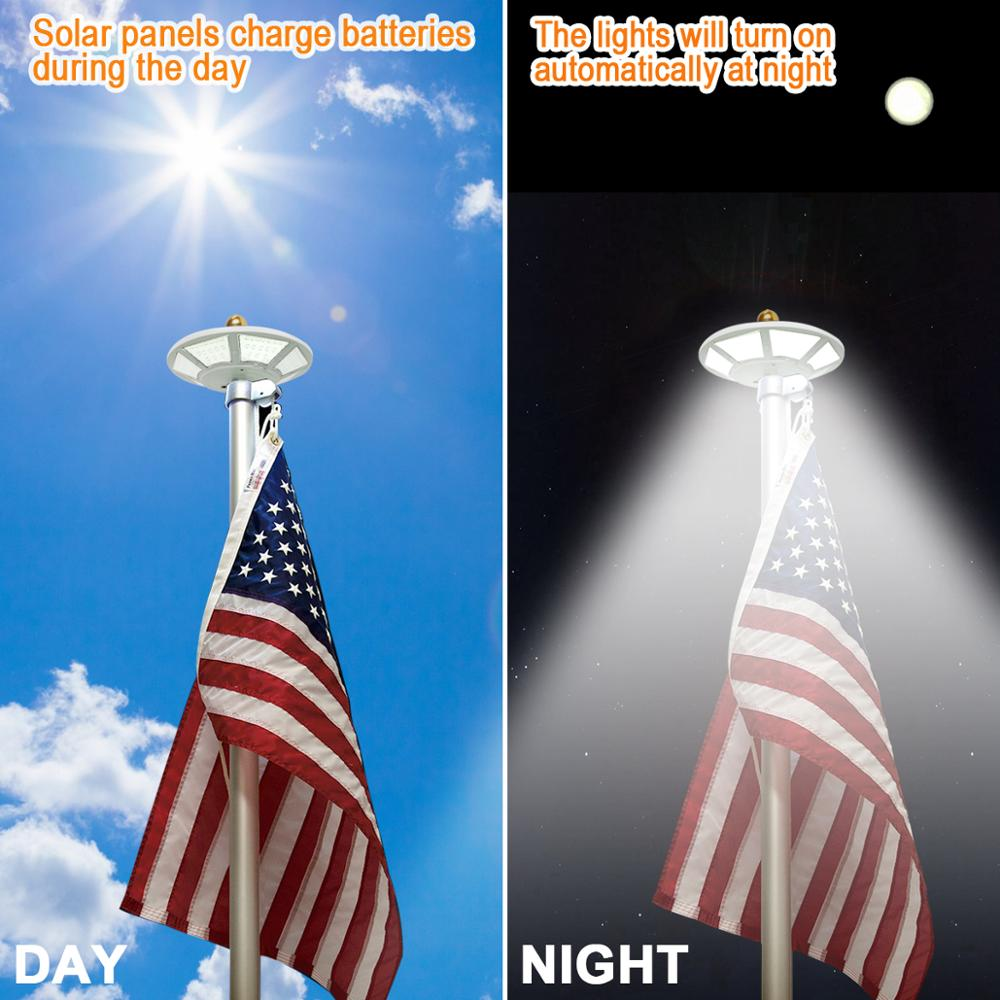100% True Hot Selling Solar Power Flag Pole Flagpole Light Led Waterproof For Outdoor Camping Garden Camping & Hiking