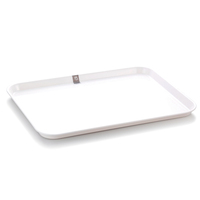 Superior quality 100% melamine plastic rectangular serving lunch tray
