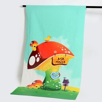 Factory wholesale Promotional Digital Printed Custom Logo Sublimation Beach Towel Microfiber for microfibre towel
