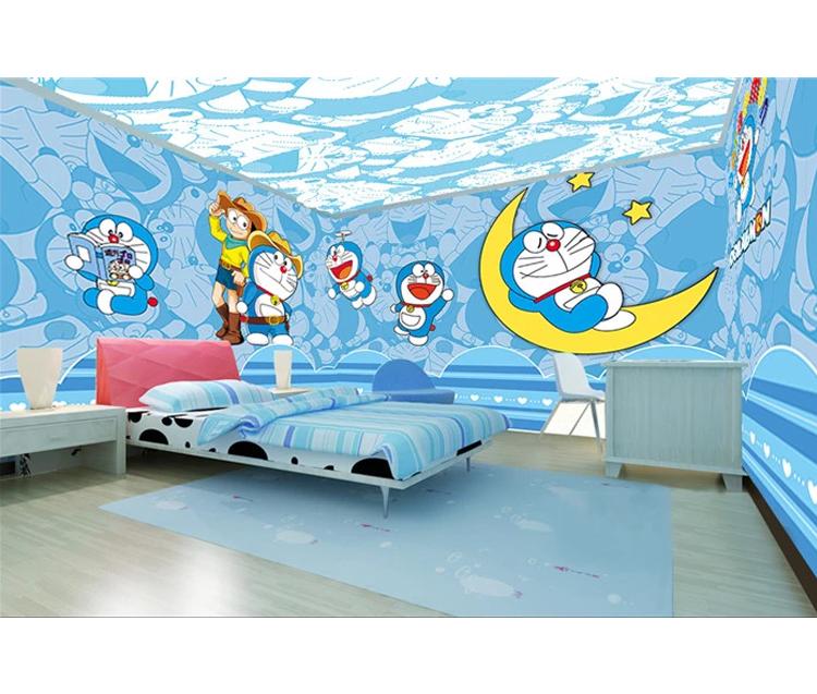Soundproof Blue Dreamlike Design High Resolution Full Room Mural