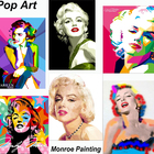 Famous artists best sell pop art oil paintings of marilyn monroe