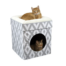 Portable Pliable Chat Chaton Maison <span class=keywords><strong>Cube</strong></span> Chat Condo <span class=keywords><strong>Pop</strong></span> <span class=keywords><strong>Up</strong></span> lit Empilable lit Chat Lit Ville Grand