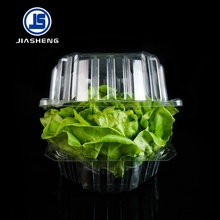 Vacuum formed clear lettuce clamshell