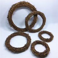 F-4255 Natural Grapevine Rattan Wreaths Ring Christmas Circle Wall Hanging