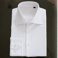 hot selling white long sleeve formal cotton white button up shirt for men