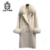 Janefur Woolen Overcoat Winter Slim Fit Jacket Double Sided Cashmere Blend Wool Coat with Real Fox Fur Collar