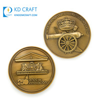OEM design custom promotional metal brass stamped antique gold plated embossed 3d fancy coin for sale