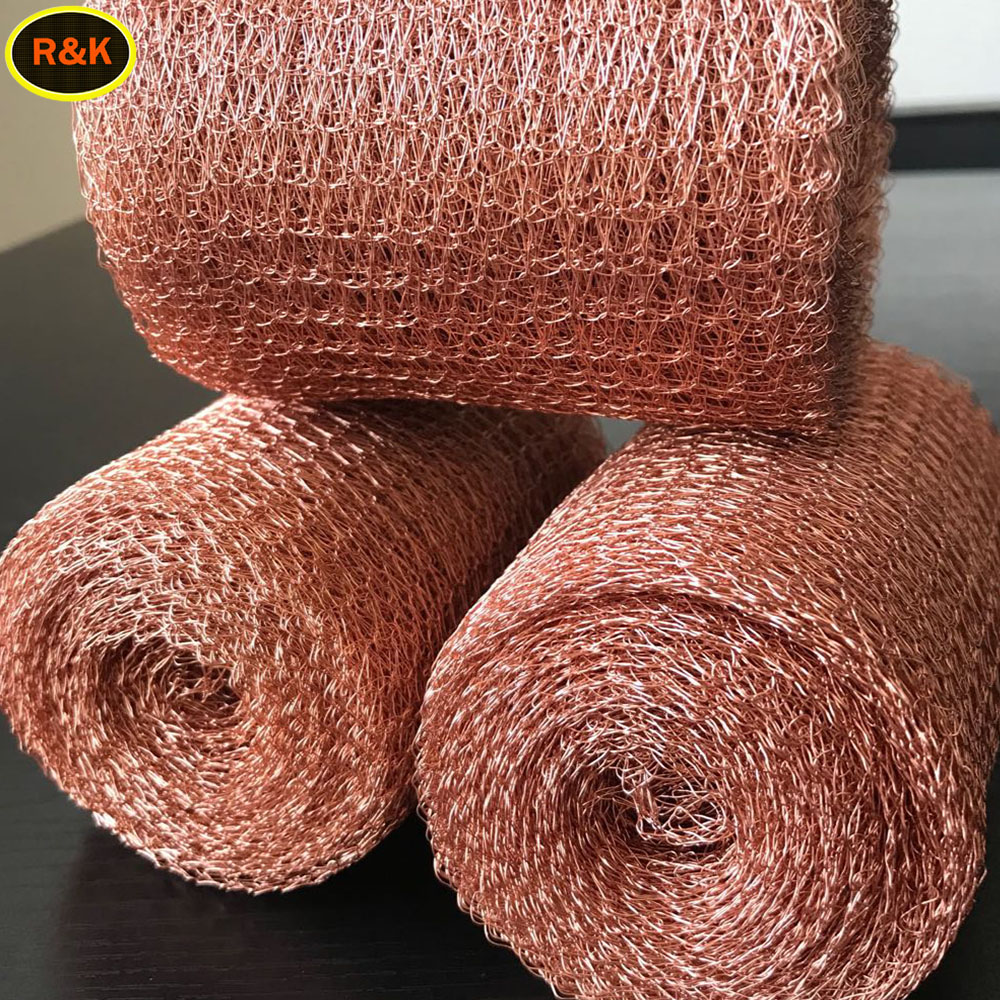 Knitted copper mesh for rat mouse
