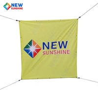 Good Quality Printable Polyester Fabric Banner Printing Diy Festival Fabric Banner For Advertising