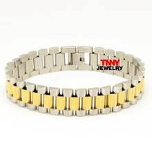 Top Quality 두 톤 줄을 감시 겸 Bracelet & Bangles 대 한 Men Stainless Steel Strap 조절 Luxury Bracelet Jewelry