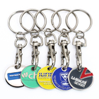 Cheap Custom Metal Coin Holder Keychain, Coin Key Ring Trolley Token Metal Holder