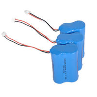 Rechargeable Lithium ion 18650 3.7v 5200mAh 1S2P 2600mah LED lights 18650 battery pack