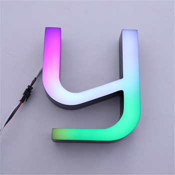 Dag en nacht acryl brief RGB led reclamebord
