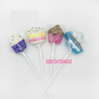 Cute halal handmade fruit cartoon hard lollipop for children