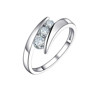 Jewelry Vintage Rose White Gold 925 Sterling Silver Engagement Ring Diamond For Women