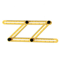 Yellow Plastic Template Tool Multi Angle Measuring Ruler