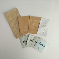 Small Bags Custom Printing Paper Sachet for Samples Cosmetics Packaging bags
