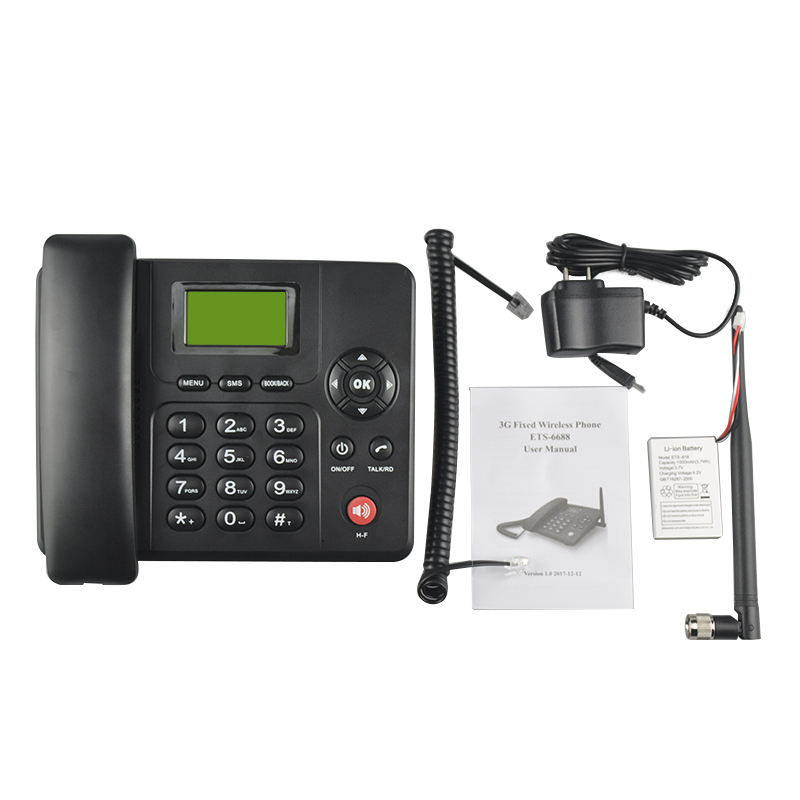 3G 2100/1900/850 MHZ & 2G WCDMA Fixed Wireless Tischtelefon Analog Schnurlostelefon mit FM
