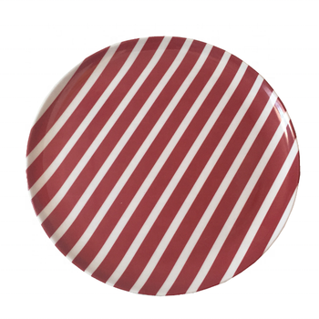 wholesale melamine dinnerware used dishwasher safe charger salad plate red and white color design