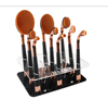 Custom Design Acrylic Oval Makeup Brush Holder Display Stand Cosmetic Brushes Display Brush Drying Holder with High Quality