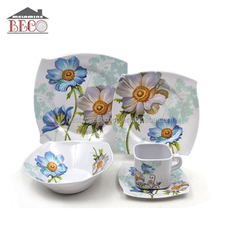 Heavyweight Eco Friendly Melamine Plastic Curve Dinnerware