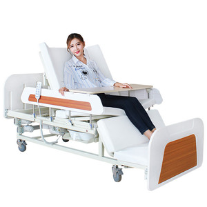 2019 hot sale medical electrical automatic hospital nursing beds with potty-hole