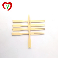 9cm Disposable Flat Bamboo Fruit Fork Safe for Kid