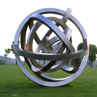 Outdoor high quality metal large morden stainless steel garden sculpture of city