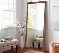 Hot Selling Big Decorative Door Mirror Frame and leaner mirror
