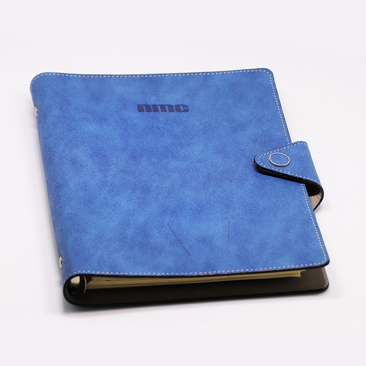 Business dairy, soft leather cover Notebook, logo printed leather dairy book