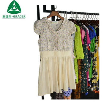 cheap clothes wholesale Ladies Cotton Dress All Kinds Of Used Clothing