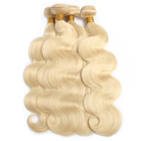 Full Cuticle Aligned wholesale 12 14 16 18 Raw Virgin Indian Hair Vendors,Blonde 613 Virgin Hair Bundles With Lace Frontal
