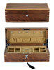 Walnut Veneer Wood Compact With a Removable Tray Jewelry Box