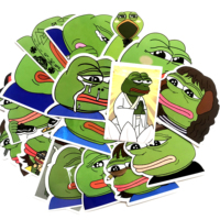 42 pcs Sad Frog Pepe Laptop Funny Vinyl Cartoon Toy Stickers for Car Motorcycle Bicycle Luggage Suitcase Helmet Decoration