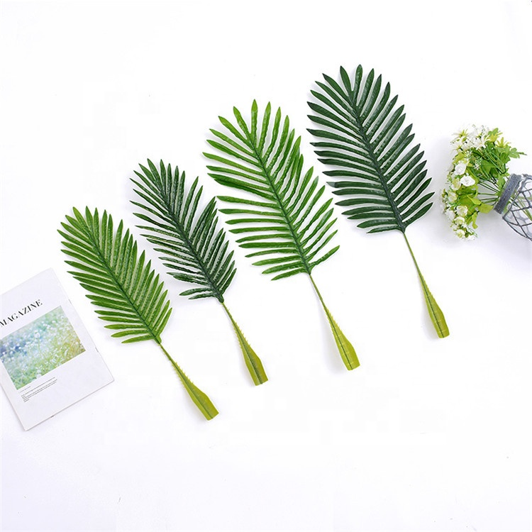 V-3112 Wholesale Price <strong>Artificial</strong> <strong>Green</strong> <strong>Leaves</strong> <strong>Artificial</strong> palm tree leaf