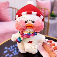 30cm Dress up Plush Stuffed Toys Doll Kawaii Cafe Cute Yellow Duck Plush Toys Girls Gifts Lovely Decoration Toys For Children.