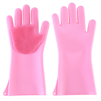 Multifunctional Clean Heat-resistant BBQ Silicone Kitchen Gloves Washing Brush Cleaning Silicone Gloves For Kitchen