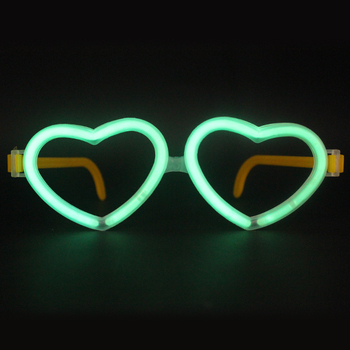 Factory Price Fluorescent Glow In The Dark Glasses / Glow Glasses