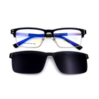 italy design metal glasses polarized clip on optical sunglasses with tac