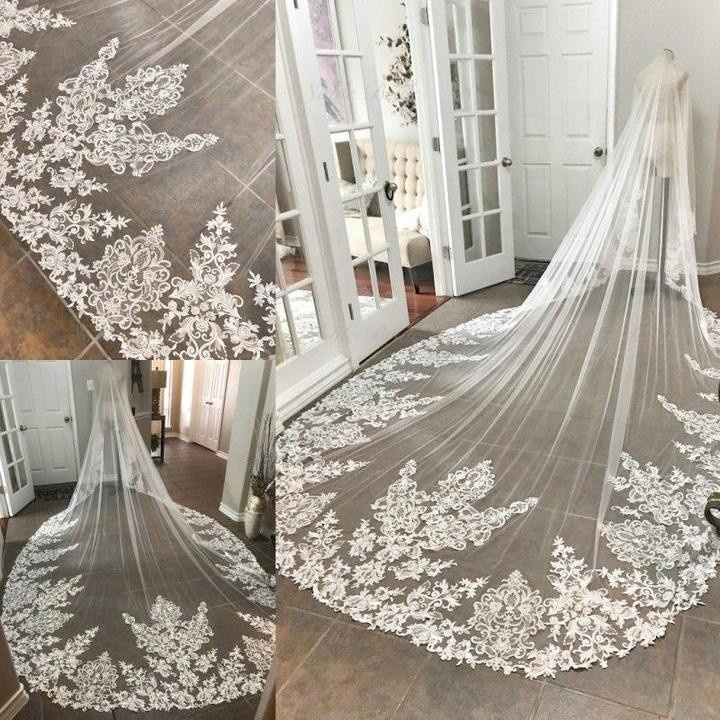 Kathedraal Lange Kant Wedding Bridal Veil