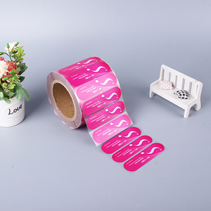 Free Sample Custom PVC Stickers Roll Adhesive Bottle Cap Seal Label