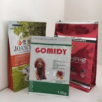 Printed pet dog food packaging plastic bag with resealable zipper stand up pet food bag