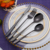 4 piece spoon fork knife set tableware stainless steel gift box